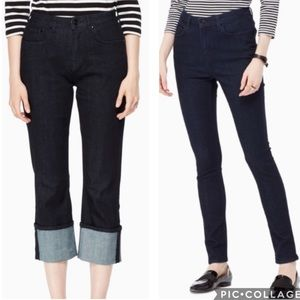 Kate Spade Broome Street Cuffed Jeans Size 26 NWT